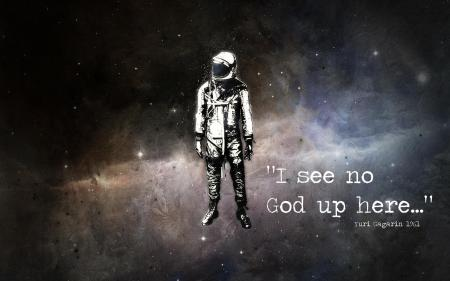 no god up here